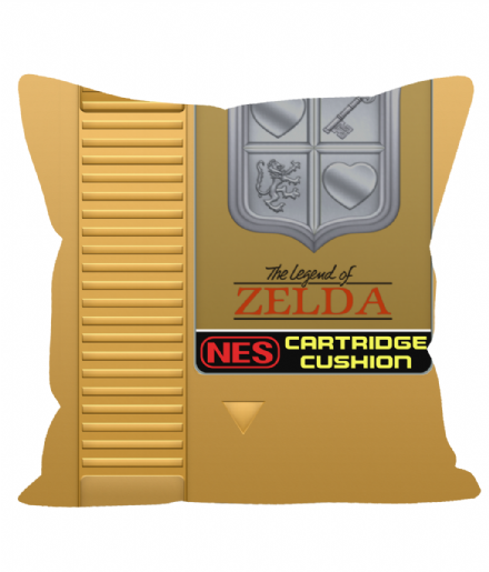 "Cartridge Series 12"" Sofa Cushion inspired by NES Gold Legend Of Zelda"